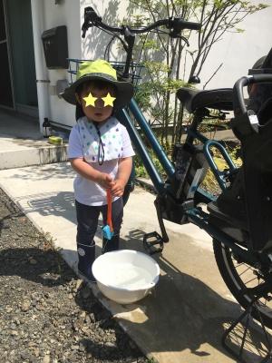 自転車ウオッシュ